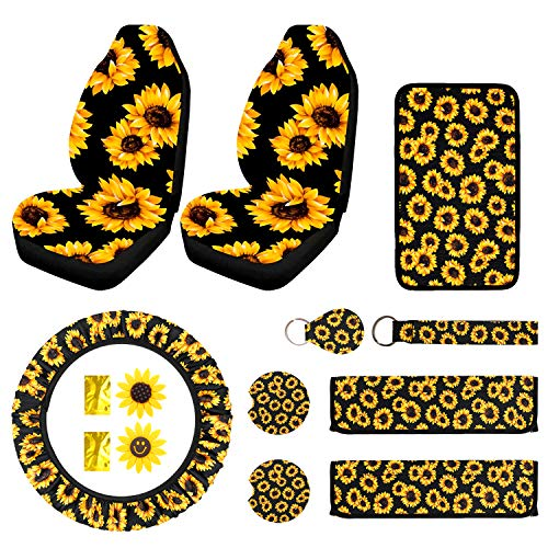 Top 10 Sunflower Car Accessories for Women - Automotive Seat Cover Accessories