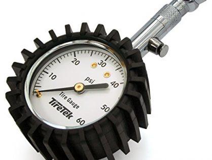 60PSI - TireTek Premium Tire Pressure Gauge With Integrated Hold Valve