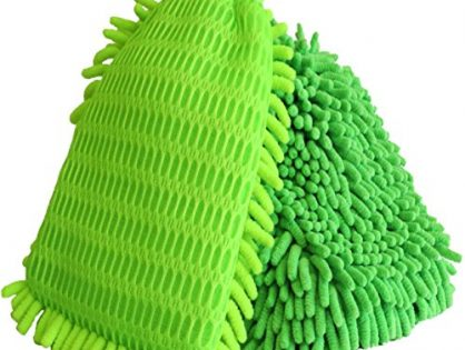 Super Car Wash Mitt - 1 Dual Side Woven Mesh,1 Double Side. Auto Detailing, Lint Free, Scratch Free, Interior Exterior Polishing, Duster, Use Wet/Dry. Quality Guaranteed - 2 Pack- Chenille Microfiber