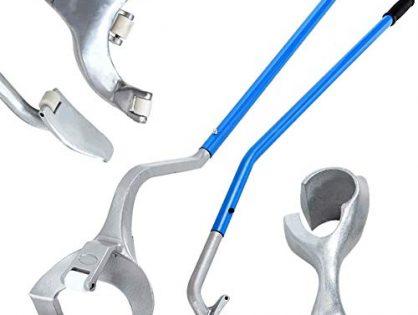 "Goplus Tire Changer, 17.5"" to 24"" Steel Tire Mount Demount Tool Kit, Tubeless Truck Bead Breaker Manual Tire Changing Tools Blue"