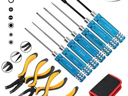 Hobby-Ace 10IN1 RC Tools Kits Box Set Screwdriver Pliers Hex Sleeve Socket Repair for RC Car Boat Quadcopter Helicopter Multirotors Models