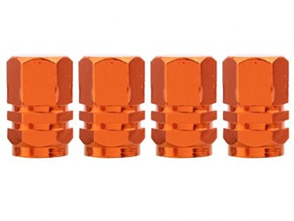 TOMALL Orange Hexagon Style Wheel Tyre Valve Stem Caps for Jeep SUV 4WD Rims Dust Cover