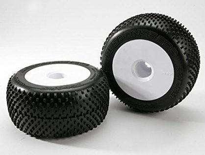 """Traxxas 5375R Pro Response Tires Pre-Glued on 3.8"""" Dished Wheels, 17MM pair"""
