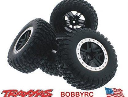 Slash 58034-2 2wd Tires & 12mm Black Split Spoke Wheels /Fit Raptor Traxxas