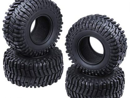 """Hobbypark 2.2"""" Tires with Foam Inserts Beadlock Wheel Rims Tyres for 1/10 RC Rock Crawler Truck Replacement All Terrain 4-Pack"""
