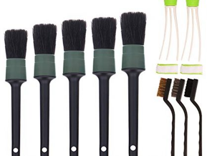SUBANG 10 Pieces Car Cleaner Brush Set Including Detail Brush Set of 5,3 pcs Wire Brush and 2 pcs Automotive Air Conditioner, Auto Detailing Brush for Cleaning Wheels, Interior, Exterior, Leather