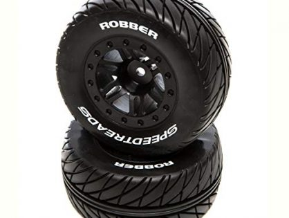 Duratrax SpeedTreads Robber SC Front Rear Black Mounted: Traxxas Slash/Rustler, ECX 4X4, DTXC2929