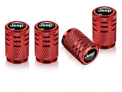 Baoxijie 4pcs for Jeep Valve Stem Caps,Tire Caps for Car,Motorbike,Trucks,Bike and Bicycle Aluminum