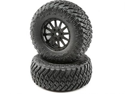 Losi Wheel and Tire Mounted 2: TENACITY SCT, LOS43015