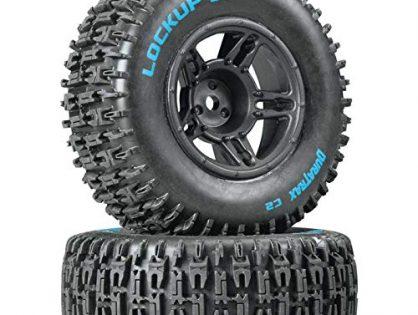 Duratrax Lockup SC Tire C2 Mounted Black Front: Slash2, DTXC3670