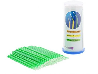 ABN Regular-Point Disposable Brush Applicator 100 Pack - for Lint-Free Detailing, Touchups, and More