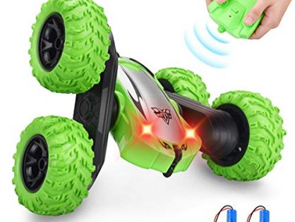 Villana Remote Control Stunt Car, RC Cars 4WD 2.4GHz Stunt Car Double Sided 360° Flips Remote Control Toys for Kids Christmas Birthday GiftsGreen