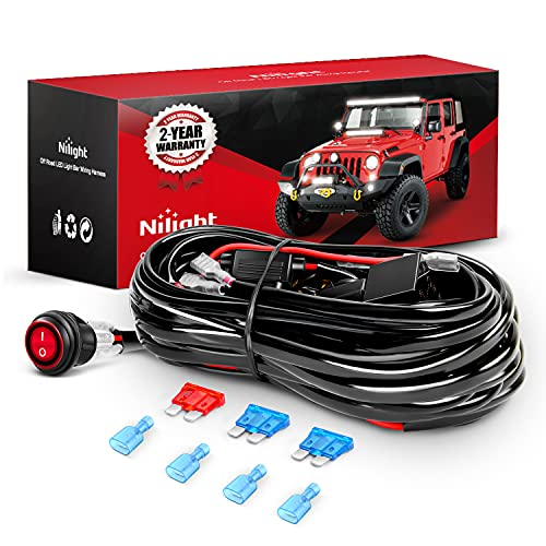Top 10 Nilight LED Light Bar Wiring Harness Kit 12V - Automotive Replacement Electrical Wiring Harnesses